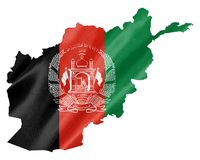 Carte de l'Afghanistan avec le drapeau illustration libre de droits