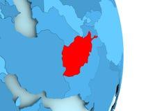 Carte de l'Afghanistan en rouge Images stock