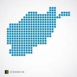 Carte de l'Afghanistan et icône de drapeau Illustration Libre de Droits
