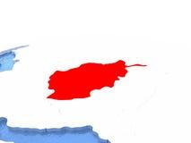 Carte de l'Afghanistan sur le globe Photos libres de droits