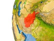 Carte de l'Afghanistan sur le modèle du globe Photo libre de droits