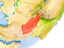 Carte de l'Afghanistan sur terre Images stock