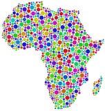 Carte de l'Afrique Photo libre de droits