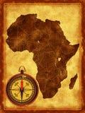 Carte de l'Afrique Images libres de droits