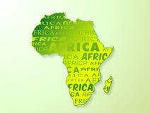 Carte de l'Afrique avec l'effet d'ombre Images stock