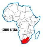 Carte de l'Afrique du Sud illustration libre de droits