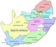 Carte de l'Afrique du Sud Image stock
