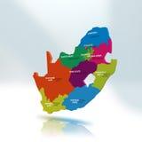 Carte de l'Afrique du Sud Photos stock