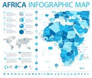 Carte de l'Afrique - illustration graphique de vecteur d'infos Photographie stock