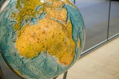 Carte de l'Afrique sur le globe Images libres de droits