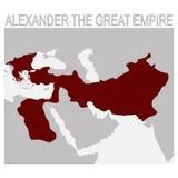 carte de l'Alexandre le grand empire illustration libre de droits