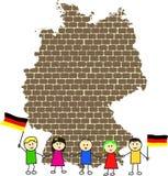 Carte de l'Allemagne Illustration de Vecteur