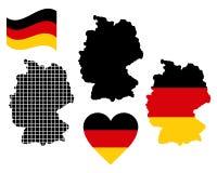 Carte de l'Allemagne Photographie stock libre de droits