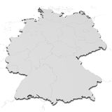 Carte de l'Allemagne avec des états Photographie stock