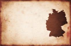 Carte de l'Allemagne de cru Images libres de droits