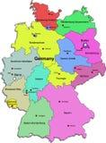 Carte de l'Allemagne sur le fond blanc Photos libres de droits