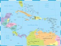 Carte de l'Amérique Centrale - illustration de vecteur illustration de vecteur