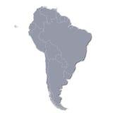 Carte de l'Amérique du Sud Photographie stock libre de droits