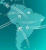 Carte de l'Amérique du Sud avec la trace Images stock