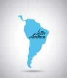 Carte de l'Amérique latine illustration de vecteur