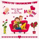 Carte de l'amour Day Photo stock