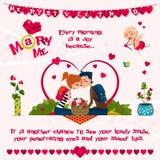 Carte de l'amour Day Photographie stock libre de droits