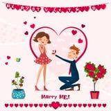 Carte de l'amour Day Photos libres de droits