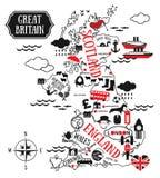 Carte de l'Angleterre Images stock