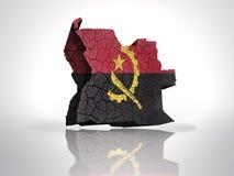 Carte de l'Angola Images stock
