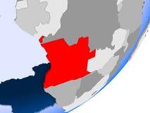 Carte de l'Angola Photographie stock libre de droits