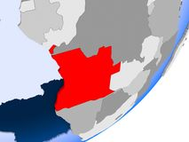 Carte de l'Angola Illustration de Vecteur