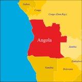 Carte de l'Angola. Images libres de droits
