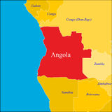 Carte de l'Angola. illustration de vecteur