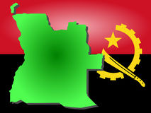 Carte de l'Angola Photo stock