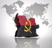 Carte de l'Angola Photos libres de droits
