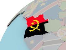 Carte de l'Angola avec le drapeau Photos libres de droits