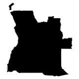 Carte de l'Angola sur le fond blanc Photographie stock