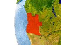 Carte de l'Angola sur le modèle du globe Photo libre de droits