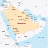 Carte de l'Arabie Saoudite illustration de vecteur