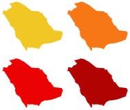 Carte de l'Arabie Saoudite - royaume de l'Arabie Saoudite illustration stock