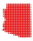 Carte de l'Arizona Image stock
