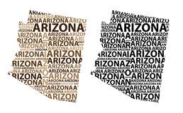 Carte de l'Arizona - illustration de vecteur Illustration de Vecteur