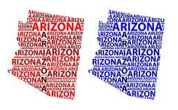 Carte de l'Arizona - illustration de vecteur Illustration Stock
