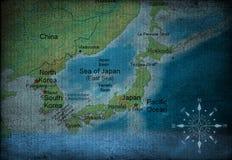 carte de l'Asie Photo stock