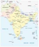Carte de l'Asie du sud Photo libre de droits