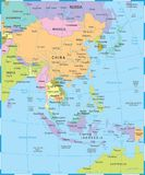 Carte de l'Asie de l'Est - illustration de vecteur illustration libre de droits