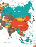 Carte de l'Asie - illustration de vecteur illustration libre de droits