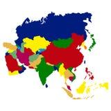 carte de l'Asie politique illustration stock