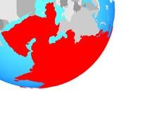 Carte de l'Asie sur le globe illustration stock