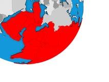 Carte de l'Asie sur le globe 3D illustration libre de droits